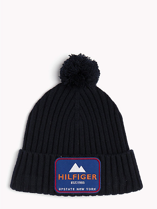 TOMMY HILFIGER New York Badge Beanie - TOMMY NAVY - TOMMY HILFIGER Winter Warmers - main image
