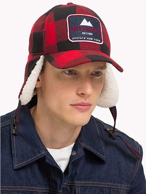 TOMMY HILFIGER Badge Trapper Cap - CHECK - TOMMY HILFIGER Caps & Beanies - detail image 1
