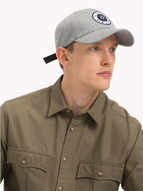 TOMMY HILFIGER Hilfiger Badge Cap - LIGHT GREY HEATHER - TOMMY HILFIGER Caps & Beanies - detail image 1