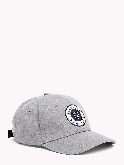TOMMY HILFIGER Hilfiger Badge Cap - LIGHT GREY HEATHER - TOMMY HILFIGER Caps & Beanies - main image