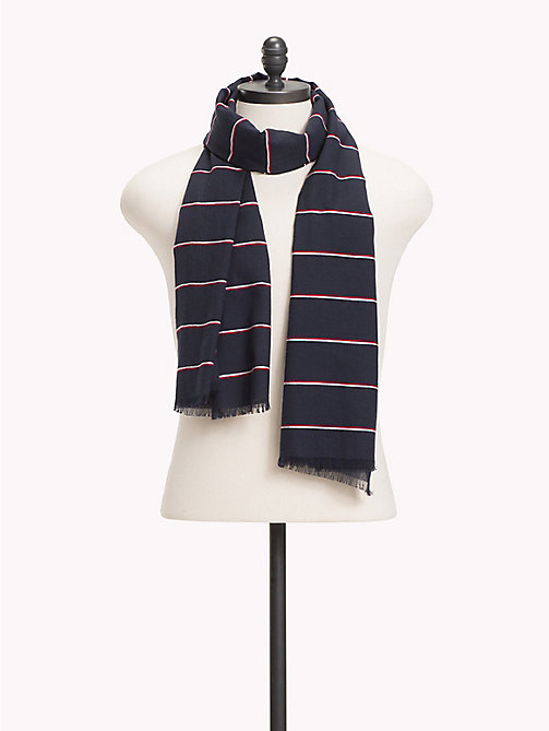 TOMMY HILFIGER Signature Stripe Scarf - TOMMY NAVY - TOMMY HILFIGER Scarves - main image