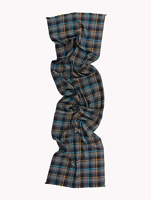 TOMMY HILFIGER Check Cotton Scarf - BLUX MIX - TOMMY HILFIGER Scarves - detail image 1