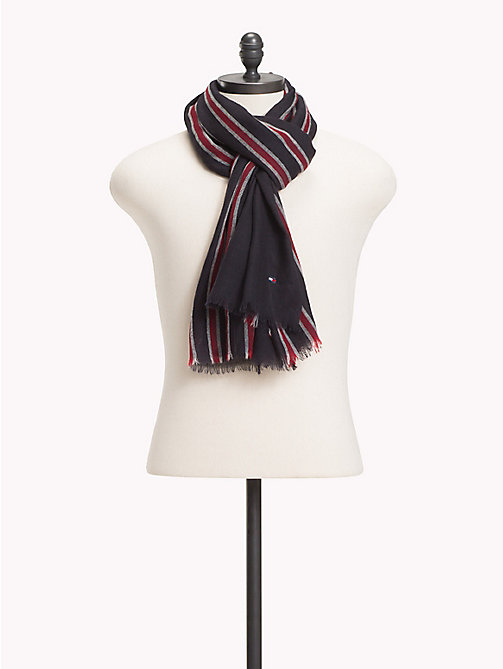TOMMY HILFIGER Tommy Tape Pure Wool Scarf - CORPORATE - TOMMY HILFIGER Bags & Accessories - main image