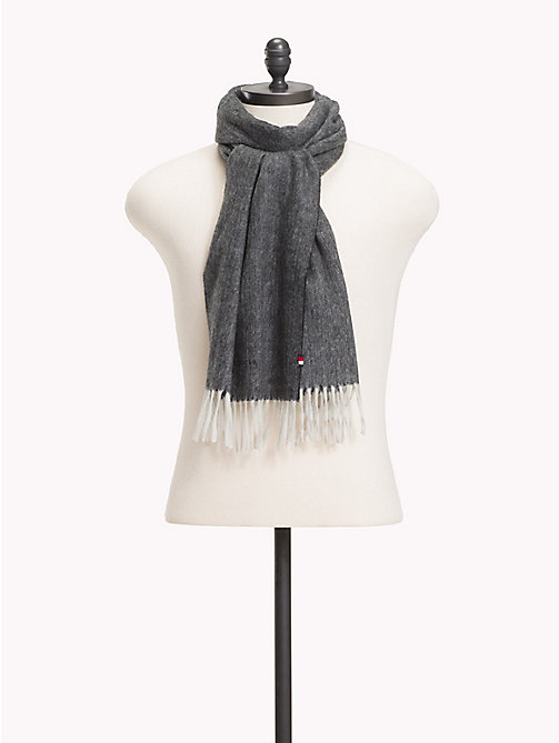 TOMMY HILFIGER Pure Cashmere Scarf - HERRINGBONE - TOMMY HILFIGER NEW IN - main image