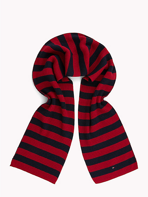 TOMMY HILFIGER Cotton Cashmere Scarf - CORPORATE - TOMMY HILFIGER Scarves - detail image 1