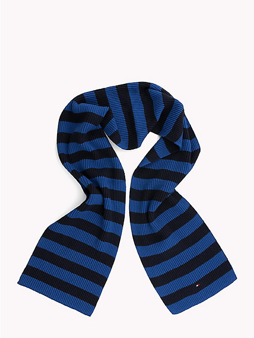 TOMMY HILFIGER Cotton Cashmere Scarf - BLUE MIX - TOMMY HILFIGER Bags & Accessories - detail image 1