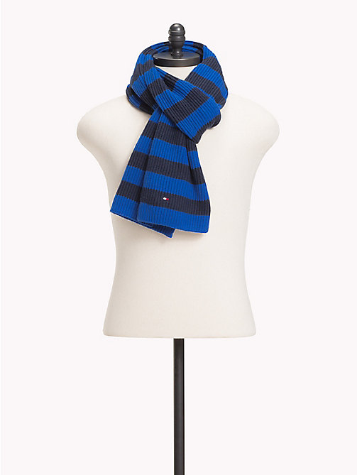 TOMMY HILFIGER Cotton Cashmere Scarf - BLUE MIX - TOMMY HILFIGER Scarves - main image