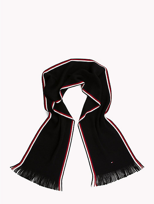 TOMMY HILFIGER Corporate Edge Signature Scarf - BLACK - TOMMY HILFIGER Scarves - detail image 1