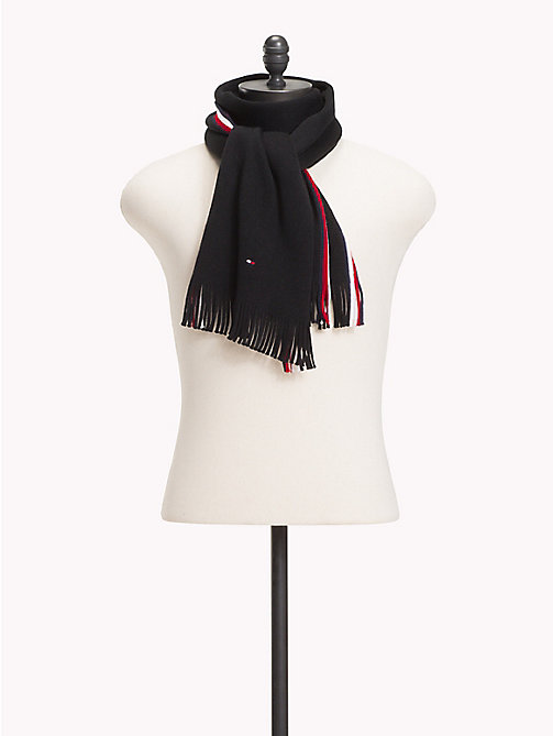 TOMMY HILFIGER Corporate Edge Signature Scarf - BLACK - TOMMY HILFIGER NEW IN - main image
