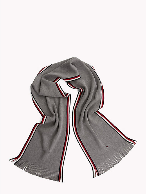TOMMY HILFIGER Corporate Edge Signature Scarf - LIGHT GREY HEATHER - TOMMY HILFIGER NEW IN - detail image 1