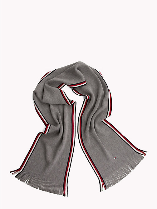 TOMMY HILFIGER Corporate Edge Signature Scarf - LIGHT GREY HEATHER - TOMMY HILFIGER Scarves - detail image 1