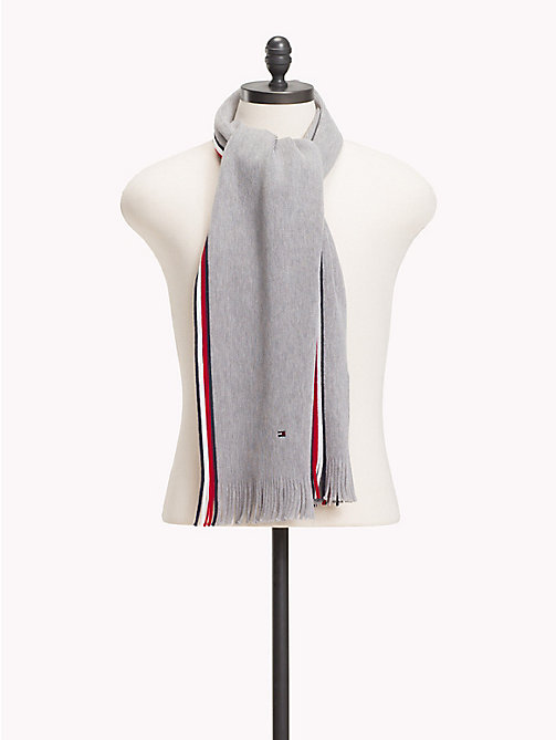 TOMMY HILFIGER Corporate Edge Signature Scarf - LIGHT GREY HEATHER - TOMMY HILFIGER NEW IN - main image