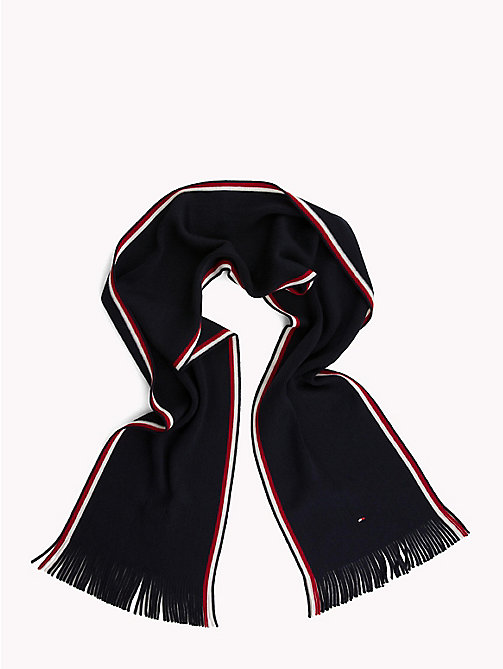 TOMMY HILFIGER Corporate Edge Signature Scarf - TOMMY NAVY - TOMMY HILFIGER Scarves - detail image 1