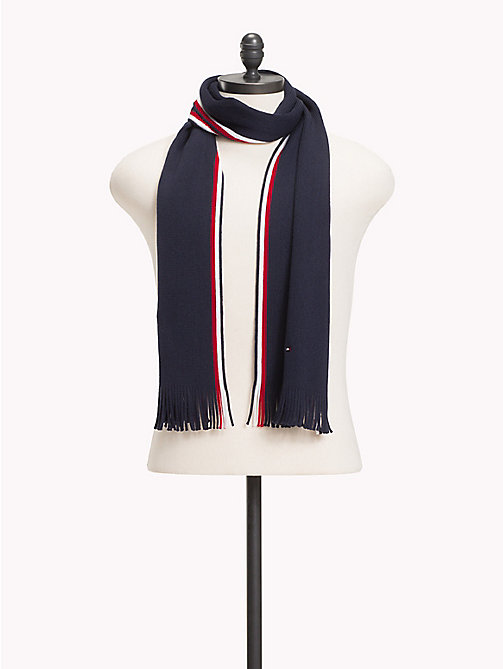 TOMMY HILFIGER Corporate Edge Signature Scarf - TOMMY NAVY - TOMMY HILFIGER Bags & Accessories - main image