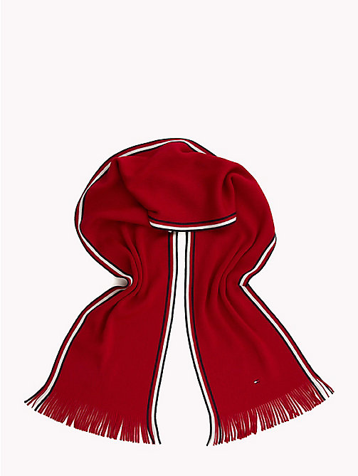 TOMMY HILFIGER Corporate Edge Signature Scarf - TOMMY RED - TOMMY HILFIGER Scarves - detail image 1