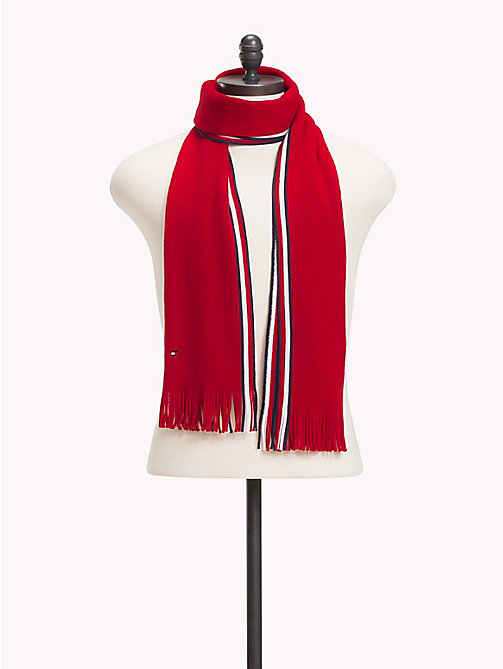 TOMMY HILFIGER Corporate Edge Signature Scarf - TOMMY RED - TOMMY HILFIGER NEW IN - main image