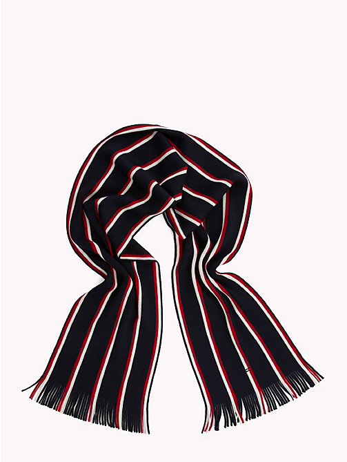 TOMMY HILFIGER Pure Wool Signature Scarf - TOMMY NAVY MIX - TOMMY HILFIGER Bags & Accessories - detail image 1