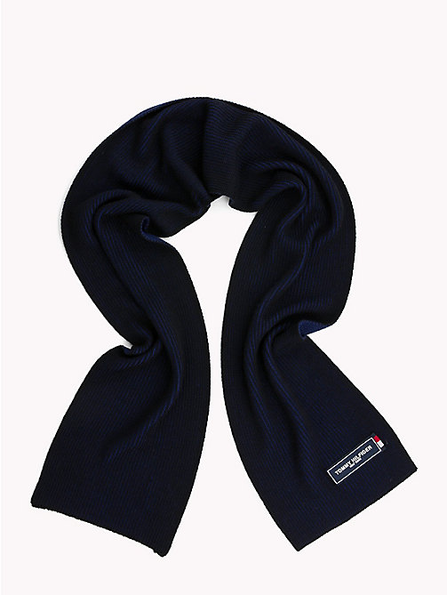 TOMMY HILFIGER Tommy Patch Knit Scarf - TOMMY NAVY MIX - TOMMY HILFIGER Scarves - detail image 1