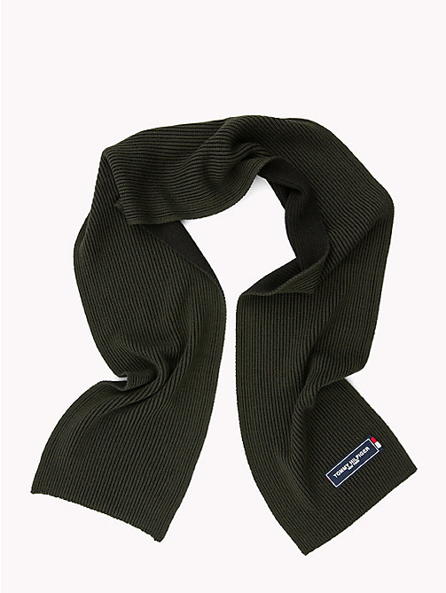 TOMMY HILFIGER Tommy Patch Knit Scarf - ROSIN MIX -  Winter Warmers - detail image 1
