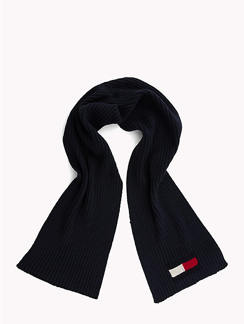 TOMMY HILFIGER Flag Knit Scarf - TOMMY NAVY - TOMMY HILFIGER Bags & Accessories - detail image 1