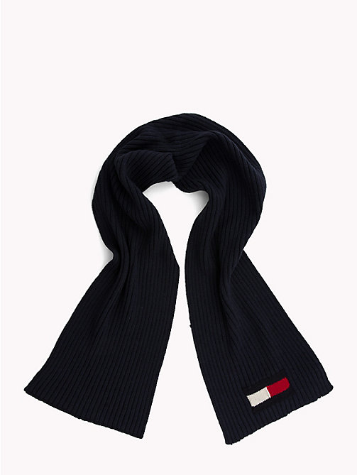 TOMMY HILFIGER Flag Knit Scarf - TOMMY NAVY - TOMMY HILFIGER Winter Warmers - detail image 1