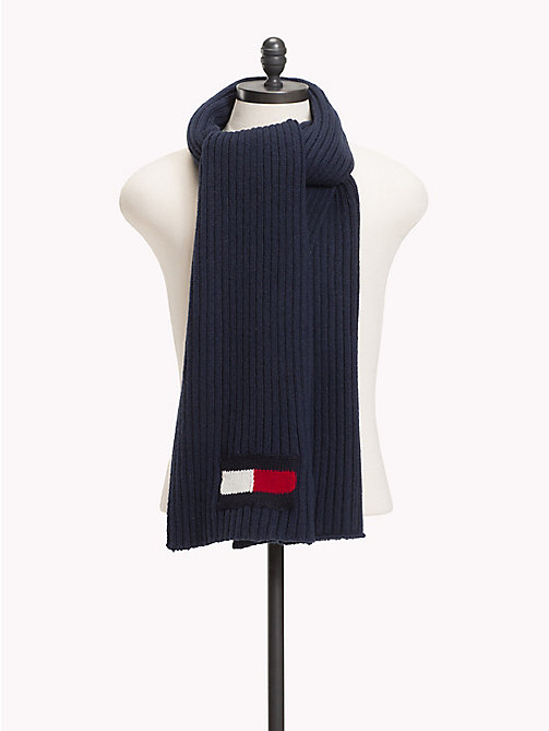 TOMMY HILFIGER Flag Knit Scarf - TOMMY NAVY -  Winter Warmers - main image
