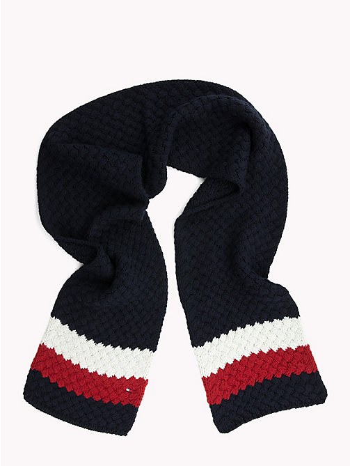 TOMMY HILFIGER Colour-Blocked Bubble-Knit Scarf - CORPORATE - TOMMY HILFIGER Bags & Accessories - detail image 1