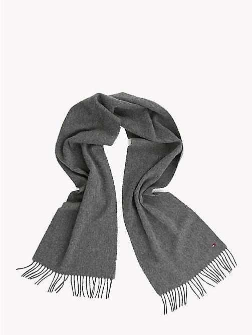 TOMMY HILFIGER Pure Wool Scarf - LIGHT GREY HEATHER - TOMMY HILFIGER Scarves - detail image 1