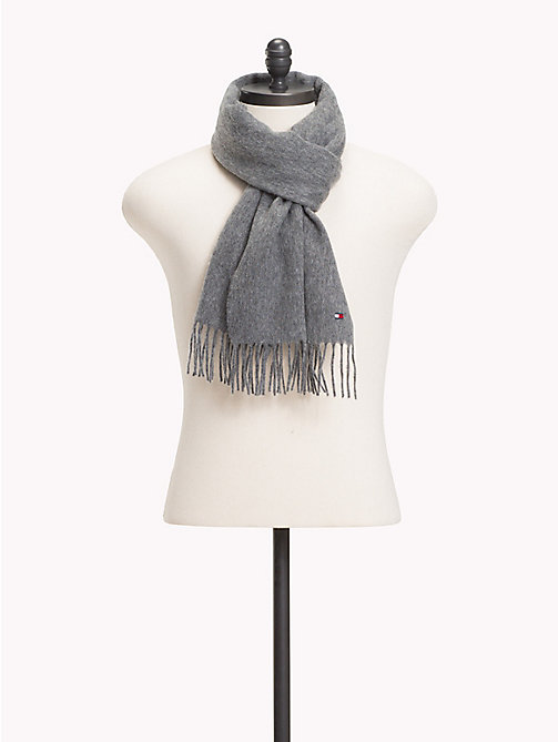 TOMMY HILFIGER Pure Wool Scarf - LIGHT GREY HEATHER - TOMMY HILFIGER Scarves - main image