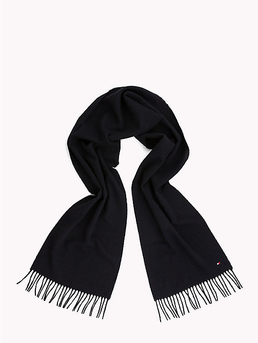 TOMMY HILFIGER Pure Wool Scarf - TOMMY NAVY - TOMMY HILFIGER Bags & Accessories - detail image 1