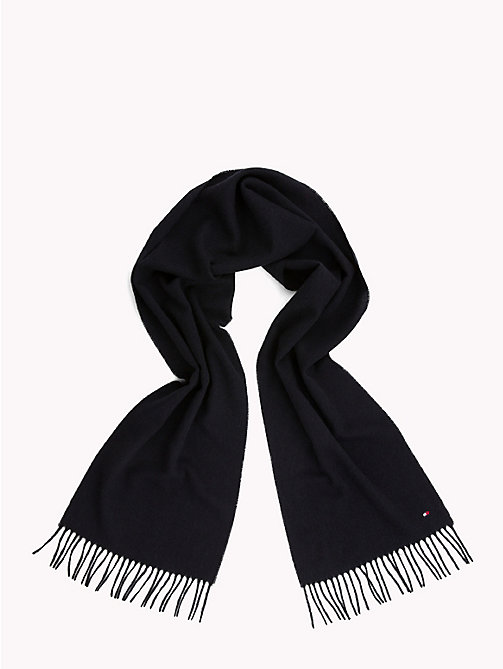 TOMMY HILFIGER Pure Wool Scarf - TOMMY NAVY - TOMMY HILFIGER Scarves - detail image 1