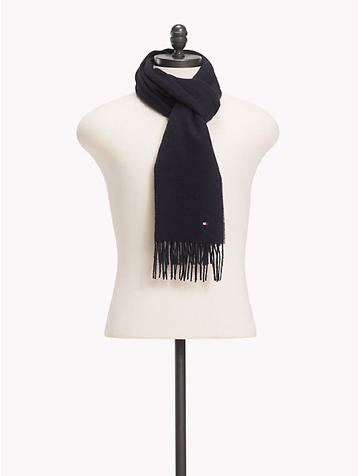 TOMMY HILFIGER Pure Wool Scarf - TOMMY NAVY - TOMMY HILFIGER Bags & Accessories - main image