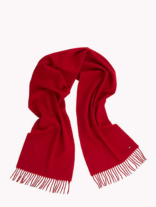 TOMMY HILFIGER Pure Wool Scarf - TOMMY RED - TOMMY HILFIGER Scarves - detail image 1