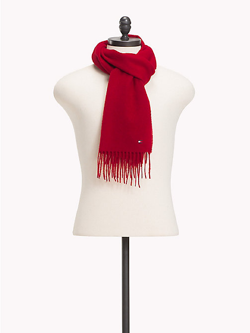 TOMMY HILFIGER Pure Wool Scarf - TOMMY RED - TOMMY HILFIGER Scarves - main image