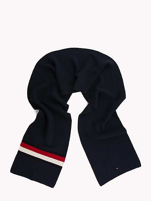 TOMMY HILFIGER Heritage Corporate Knit Scarf - TOMMY NAVY - TOMMY HILFIGER Winter Warmers - detail image 1