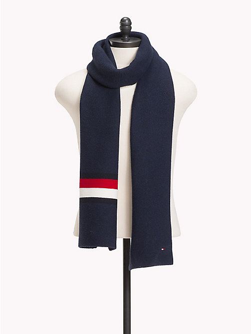 TOMMY HILFIGER Heritage Corporate Knit Scarf - TOMMY NAVY - TOMMY HILFIGER Scarves - main image