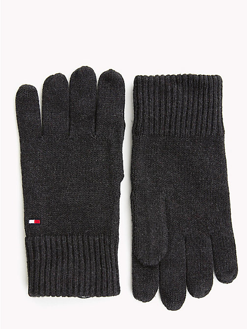 TOMMY HILFIGER Cotton Cashmere Gloves - BLACK - TOMMY HILFIGER Gloves - main image