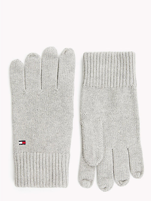TOMMY HILFIGER Cotton Cashmere Gloves - LIGHT GREY HEATHER - TOMMY HILFIGER Gloves - main image