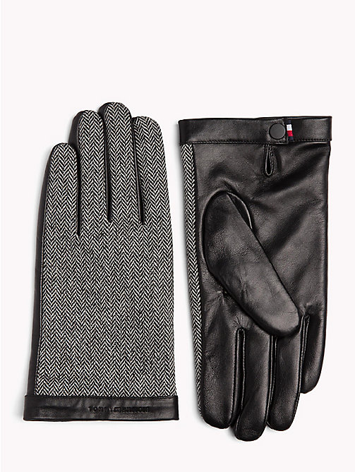 TOMMY HILFIGER Herringbone Leather Gloves - HERRINGBONE - TOMMY HILFIGER Gloves - main image