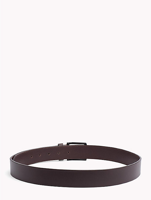 TOMMY HILFIGER Denton Leather Belt - TESTA DI MORO - TOMMY HILFIGER Belts - detail image 1
