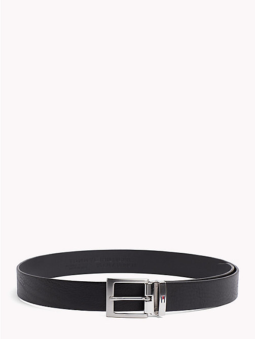 TOMMY HILFIGER Adjustable Leather Belt - BLACK - TOMMY HILFIGER Belts - main image