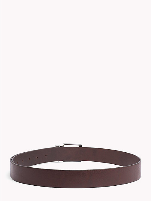 TOMMY HILFIGER Adjustable Leather Belt - TESTA DI MORO - TOMMY HILFIGER Belts - detail image 1