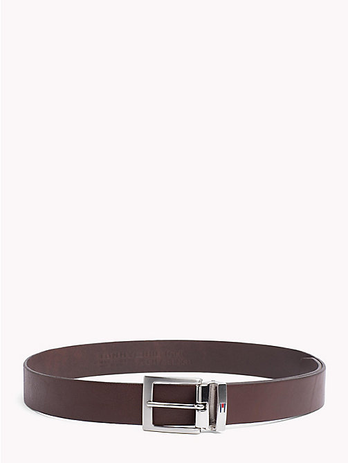TOMMY HILFIGER Adjustable Leather Belt - TESTA DI MORO - TOMMY HILFIGER Belts - main image