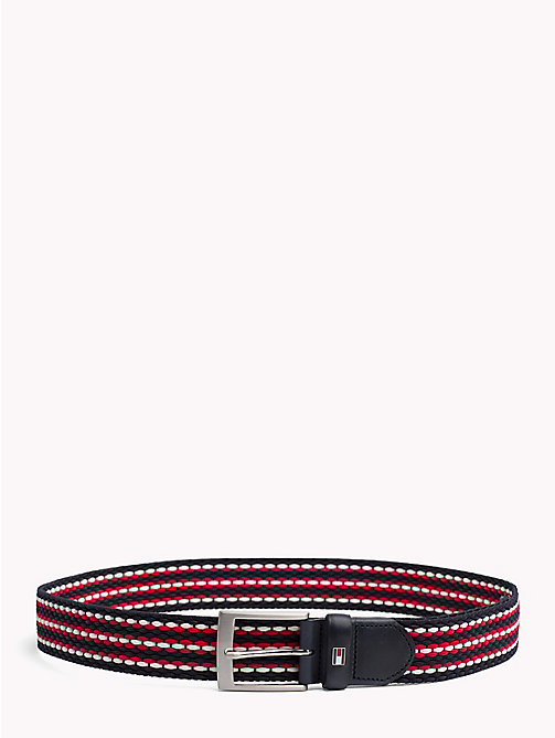 TOMMY HILFIGER Webbing riem met geweven strepen - CORPORATE MIX - TOMMY HILFIGER Riemen - main image