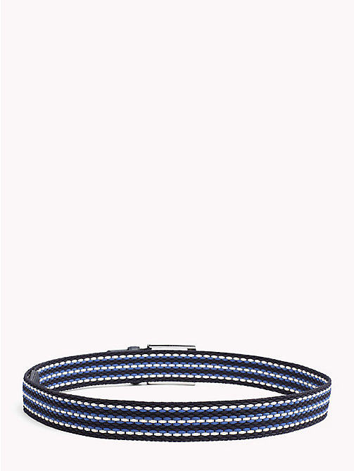 TOMMY HILFIGER Woven Stripe Webbing Belt - BLUE MIX - TOMMY HILFIGER Belts - detail image 1