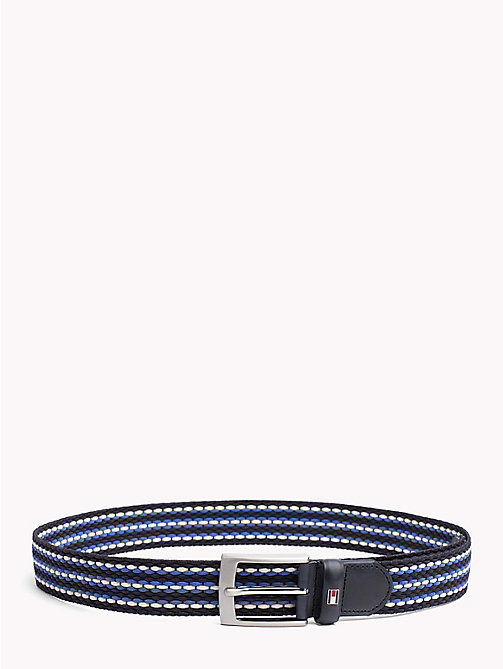 TOMMY HILFIGER Woven Stripe Webbing Belt - BLUE MIX - TOMMY HILFIGER Belts - main image