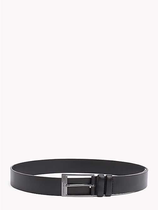 TOMMY HILFIGER Double Loop Leather Belt - BLACK - TOMMY HILFIGER Belts - main image
