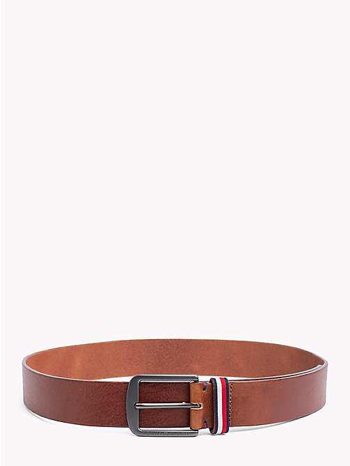 TOMMY HILFIGER Leather Jeans Belt - DARK TAN - TOMMY HILFIGER Belts - main image