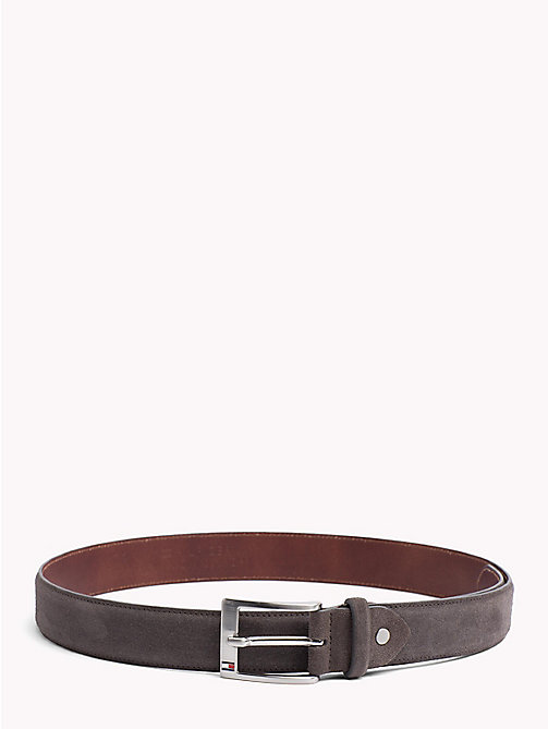 TOMMY HILFIGER Adjustable Leather Belt - CHARCOAL - TOMMY HILFIGER Belts - main image