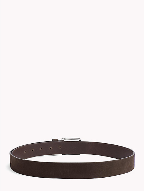 TOMMY HILFIGER Nubuck Leather Belt - TESTA DI MORO - TOMMY HILFIGER Belts - detail image 1